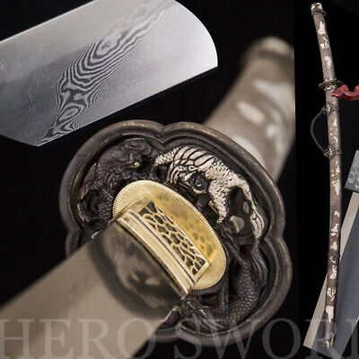 new fine folded steel tachi handmade japanese samurai sword razor sharp katana