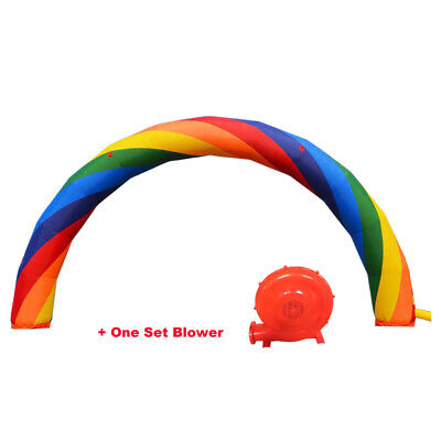 26X10 Ft (8X4Meter) Inflatable Rainbow Advertising Arch 110V Blower Outdoor