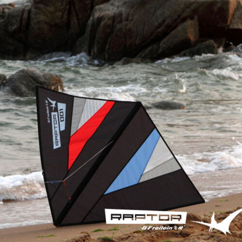 """41""""  New Black Zero Wind Circling Delta Kite With Tail And Flying Line Kite Set"""
