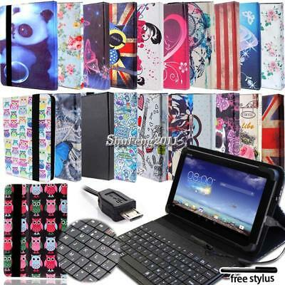 Memo Case - Leather Stand Cover Case With Keyboard For Various Asus MEMO Pad 7 8 10 Tablet