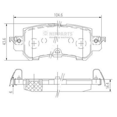 NIPPARTS Bremsbelagsatz Scheibenbremse N3613026 für GH KE MAZDA CX DK hinten AWD