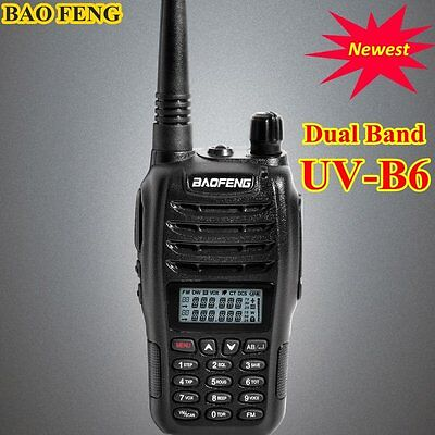 Dual Band Dual Display Handheld Two Way Radio Uv b6 Baofeng New Launch Hot