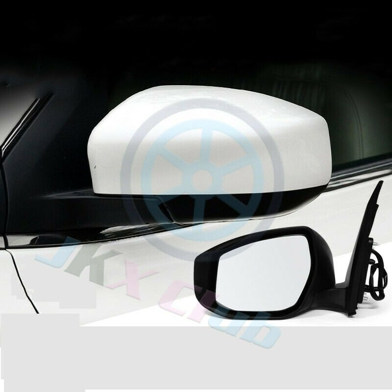 Right Passenger Side White Rearview Rear View Mirror For Nissan Sentra 2013-2017