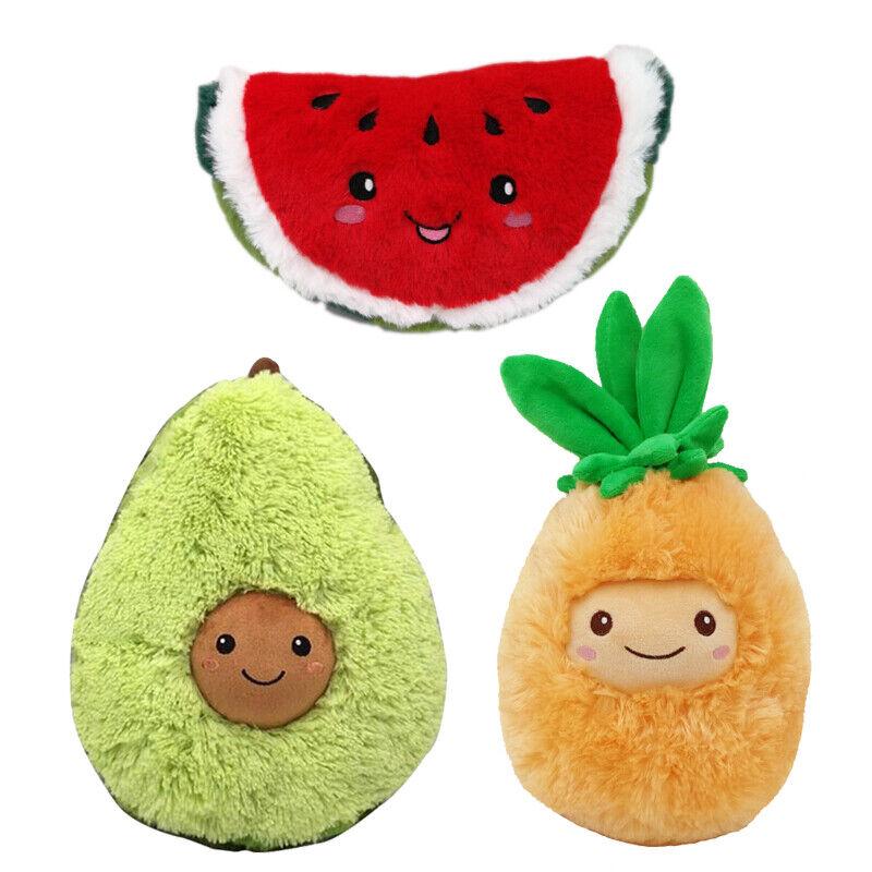 Gefüllte Plüsch Avocado Ananas Wassermelone Spielzeug Kissen Comfort Food Plüsch