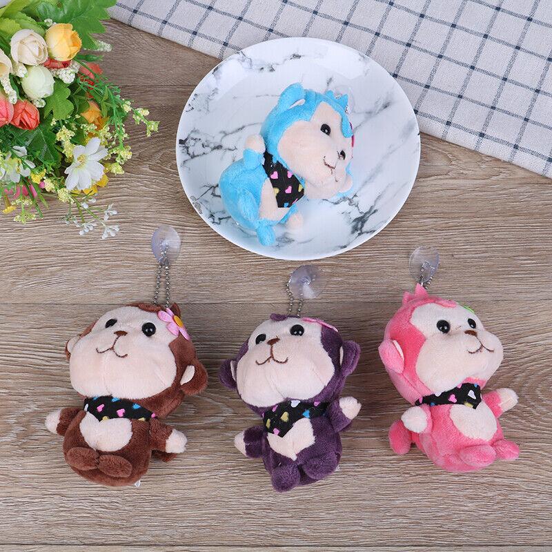 4Colors 12cm monkey pendant stuffed key chain plush toys  baby animal toys doWR