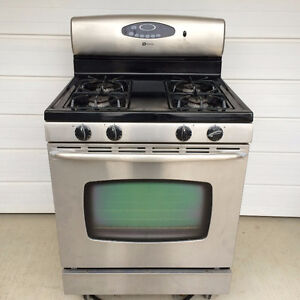 Maytag Stainless Steel/Black Gas Range