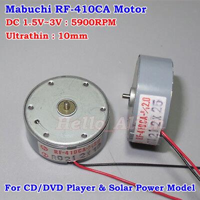 Mabuchi Rf-410ca Dc1.5v 2v 3v 5900rpm Ultrathin 10mm Micro Round Solar Motor Diy