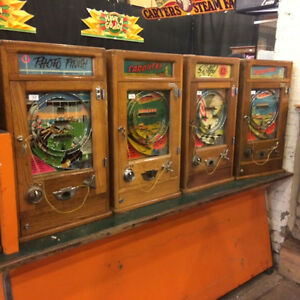 WANTED TO BUY COIN OPERATED MACHINES FROM THE U.K.