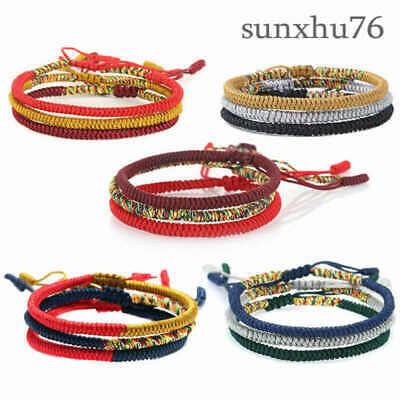 Rainbow Hand-woven Rope Bracelet Thread Braided Anklet Jewelry Wristband - Rainbow Thread