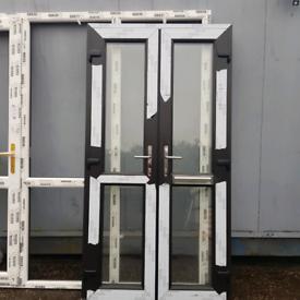 Black patio door set