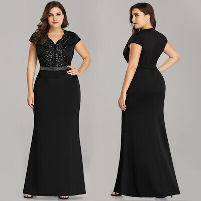 Ever-Pretty US Plus Size Black Mother Of Bride Prom Gowns Formal Evening Dresses Mother Of Bride Formal Dresses