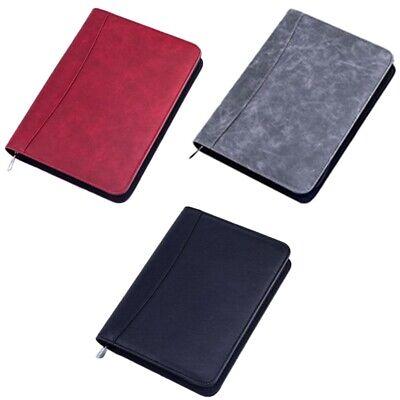 A5 Padfolio With Calculator Zipper Binder Notebook Briefcase File Executive Fold