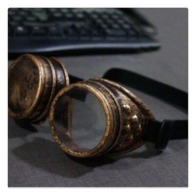 Vintage Brille Steampunk Brillen Punk Goth Viktorianisch Gothik Zubehör (Goth Zubehör)