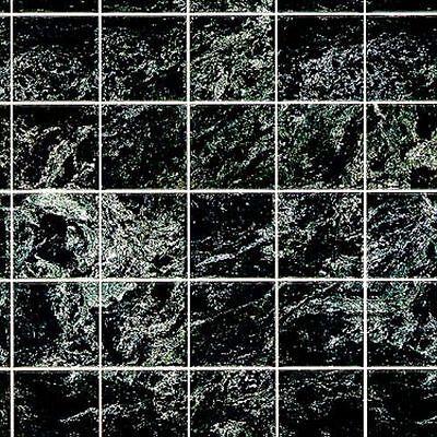 Dollhouse Miniature Black Marble Tile Flooring