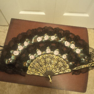 Two Lace Fans for Sale