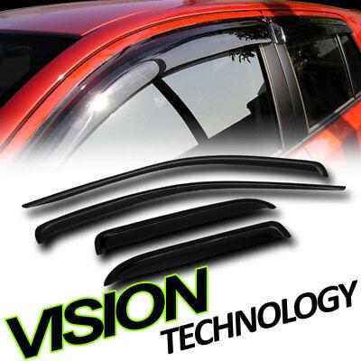 Sun/Rain Guards Shade Vent Deflectors Window Visor 02-08/09 Dodge Ram Quad Cab