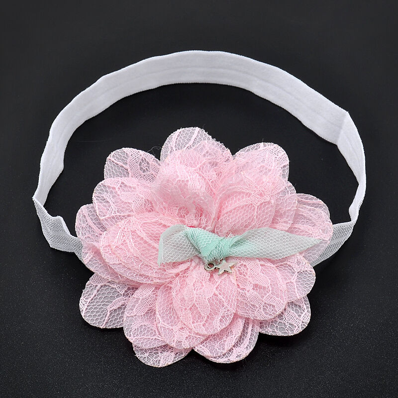 Cute Baby Girl Toddler Lace Flower Hair Band Headwear Kids Headband Accessories