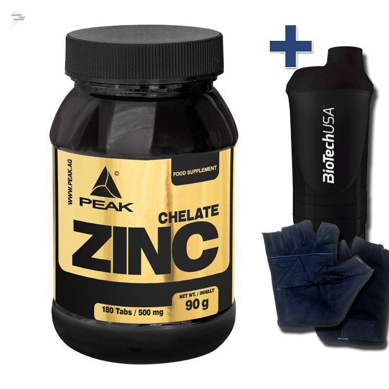 Peak zinco Chelat 180 COMPRESSE A.500mg zinco Tabs Professional + rame