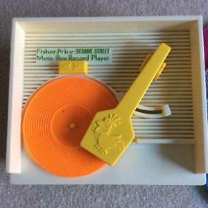 Fisher Price SESAME STREET MUSIC BOX RECORD PLAYER Vintage