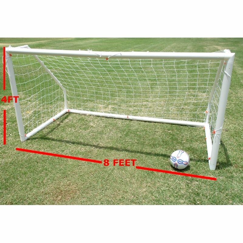 Workoutz Heavy Duty Portable Soccer Goal (8X4) With Carry Bag Net Clips Stakes