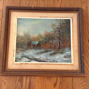 CLASSIC OIL PAINTING IN A REAL WOODEN FRAME