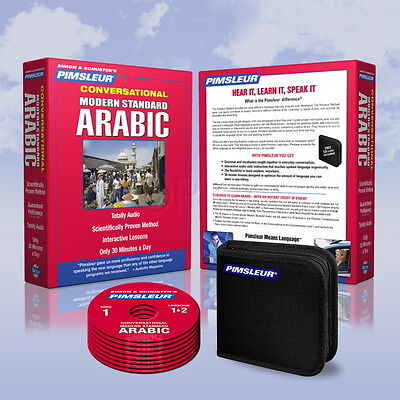 New 8 CD Pimsleur Learn to Speak Arabic Language (Modern Standard) 16 Lessons