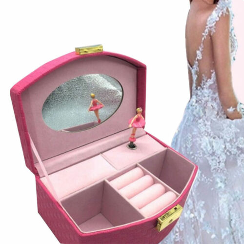 Leather Ballerina Jewelry Box Musical Box Gift for Little Gi