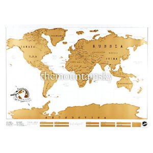 Travel Edition Cool Vacation Personalized Log Gift Scratch Off World Map Poster