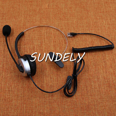 K10 Headset For Polycom 300 335 430 450 500 550 560 600 650 670 Adtran 706 712 W