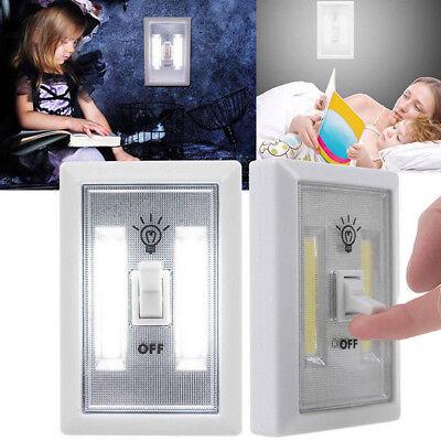 Closet Light Switch (1x COB LED Wall Switch Wireless Closet Cordless Night Light Battery)