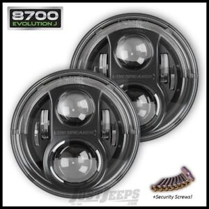 JW Speaker 8700 Evolution J LED Headlamp Kit For 07+ Jeep JK Mod