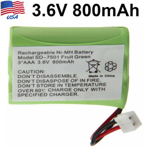 3.6V 800mAh Phone Cordless NI-MH Battery for Motorola MD4250 SD-7501 US