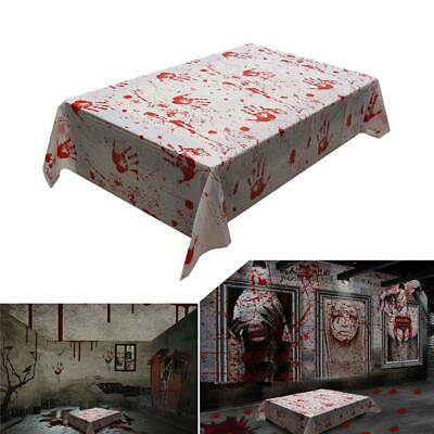 Halloween Bloody Tablecloth Blood Table Cover for Zombie Party Decorations BL3 - Table Decorations For Halloween Party