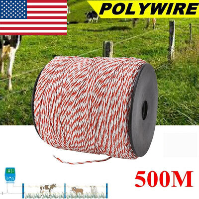 500m Whitered New Electric Livestock Fence Wire Stainless Steel Conductive Rope