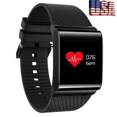 Waterproof Smart Watch Blood Pressure Heart Rate Monitor + Fitness Wristband USA