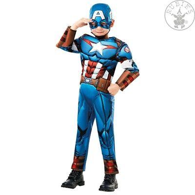 RUB 3640833 Captain America Avengers Assemble Deluxe Kinder Jungen Kostüm Marvel