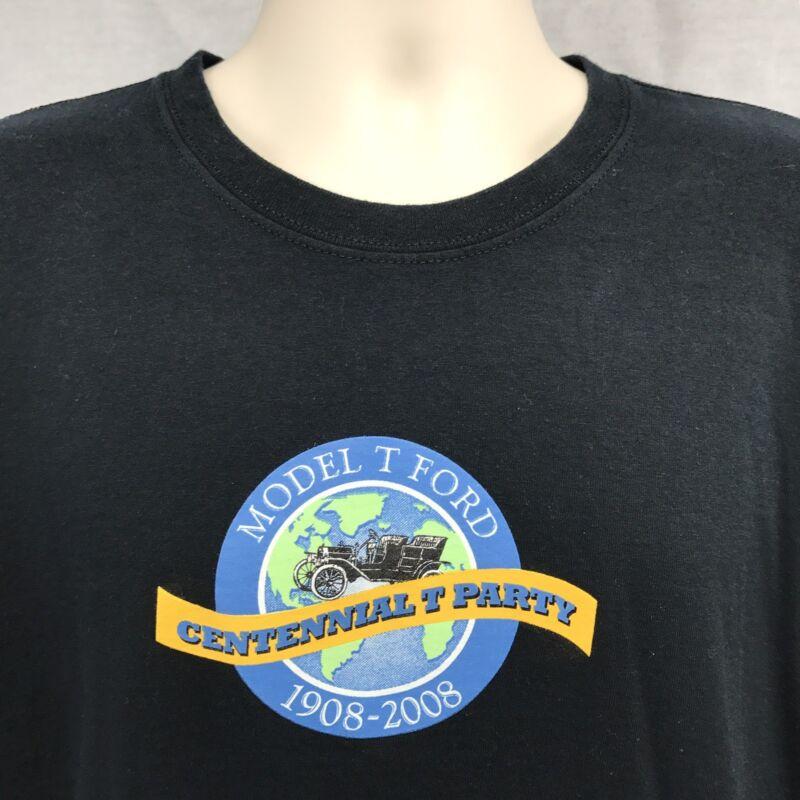 Model T Ford Centennial T-Shirt Black XL Auto Automobile Collector Restoration