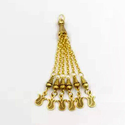 Tasbih muslim accessories Gold Metal tassel 6 chains Classic style  pendant