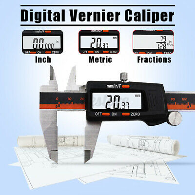 0-150mm Stainless Steel Digital Electronic Vernier Caliper Gauge Micrometer