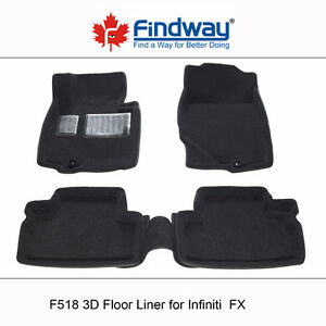 All weather 3D Car Floor Liners for 2009-2013 Infiniti FX45