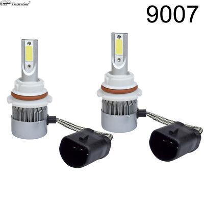 2X 9007 9004 Hb5 Cree Cob Led Headlight Kit Hi Lo Power Bulbs 6000K Hid