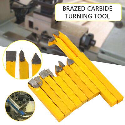 9pcs 8mm Carbide Tip Tipped Cutter Tool Bit Cutting Set For Metal Lathe Tooling