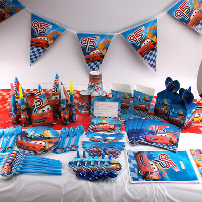 Lightning Cars Birthday Party Boys Tableware Decoration Napkins Tablecloth Mask - Cars Birthday Party