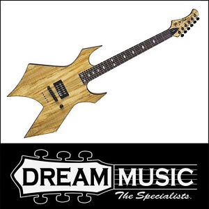 BC RICH - B.C. Rich Warlock Exotic Wood Spalted Maple Electric Guitar RRP$1299