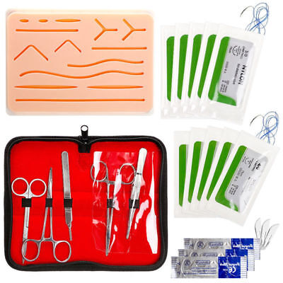 Complete Suture Practice Kit For Suture Training Realistic Human Skin Silicone