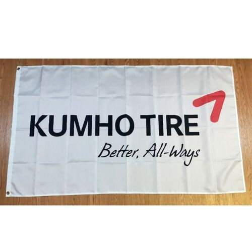 New 90x150cm Kumho Tires Tyres Racing F1 WRC JDM Car Service Gift Drift Race