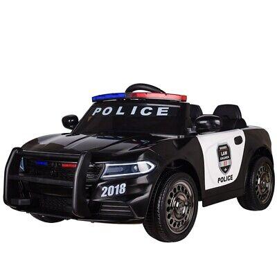 Kinderfahrzeug Elektro Auto Kinder Auto Polizei Design 12V 2,4Ghz USB MP3 Sirene