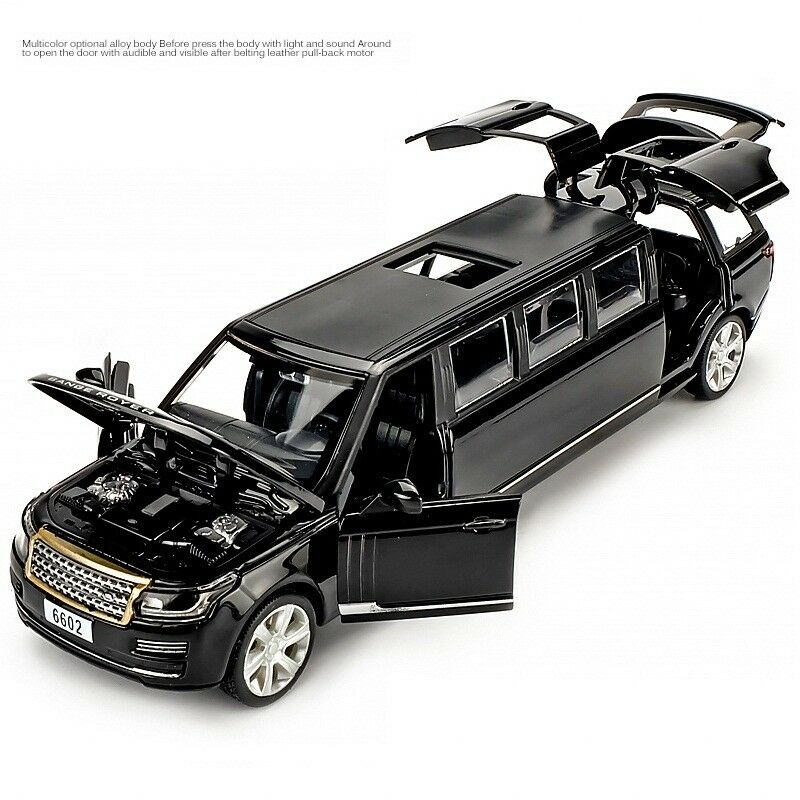 Range Rover 1:32 Scale Diecast Metal Model Car Pull Back Lights Sound Shiny Toy