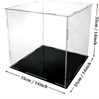 1pc Square Acrylic Display Case Action Figure Box Model Desktop Showcase Clear
