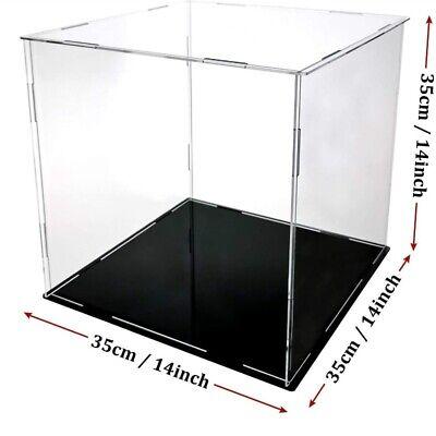 1pc Square Acrylic Display Case Action Figure Box Model Desktop Showcase Clear